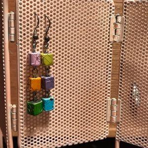 Lovely Color Block Earrings
